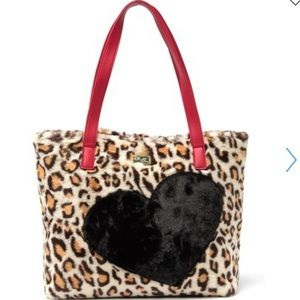Luv Betsey by Betsey Johnson faux fur leopard tote